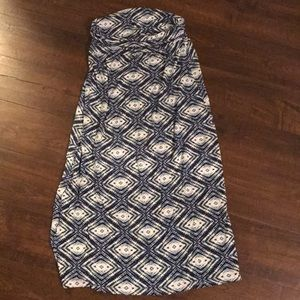 EUC olive and oak maxi skirt